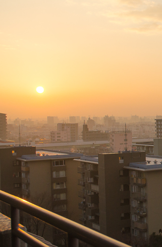 Sunrise in Nagoya - approx. 8am JST (10pm EST)
