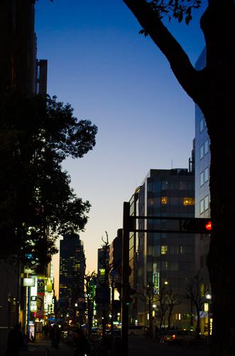 Sun Setting in Sakae, Nagoya