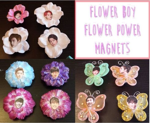 Flower Boy Flower Power Magnet