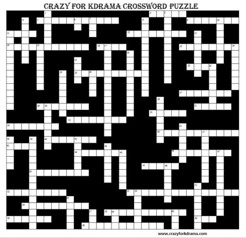 Crazy for kdrama crossword puzzle