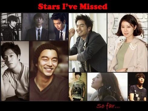stars I've missed